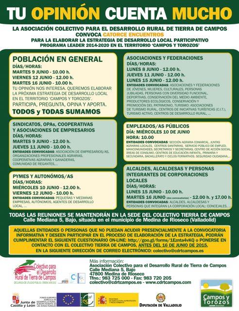 El Colectivo para el Desarrollo Rural de Tierra de Campos abre a la sociedad la elaboración de la estrategia de desarrollo rural para el periodo 2014 – 2020