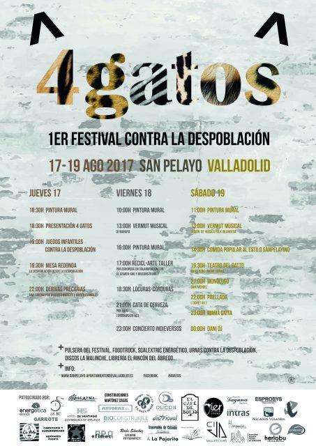 EL COLECTIVO TIERRA DE CAMPOS PARTICIPA EN EL PRIMER FESTIVAL ´4GATOS´ PARA EVITAR LA DESPOBLACIÓN