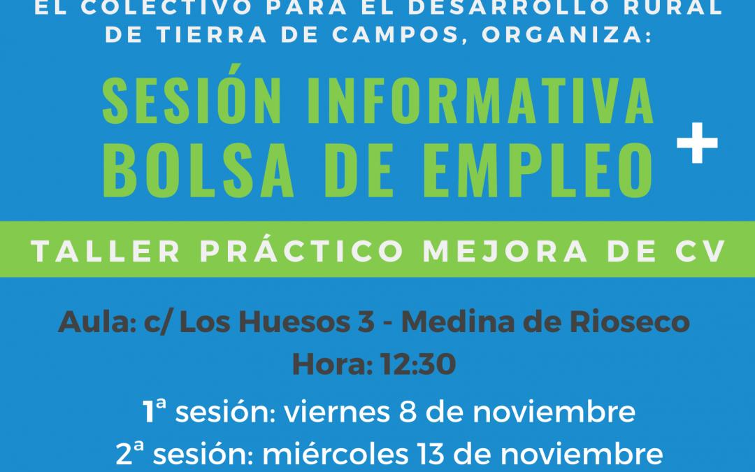 El Colectivo Tierra Campos organiza dos sesiones prácticas en relación a la Bolsa de empleo y a la mejora del Curriculum Vitae.