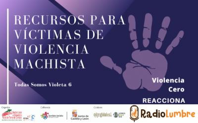 Recursos para víctimas de violencia machista