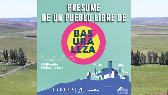 El Colectivo Tierra de Campos se suma a la campaña del Proyecto LIBERA #MiPuebloSinBasuraleza