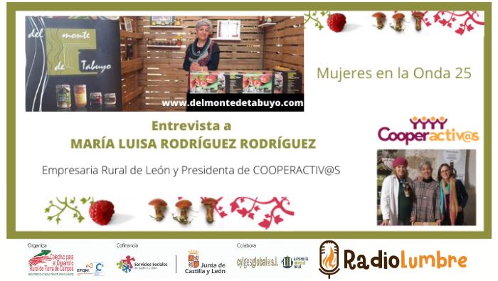 María Luisa Rodríguez Rodríguez : Mujer emprendedora y coopeactivista.