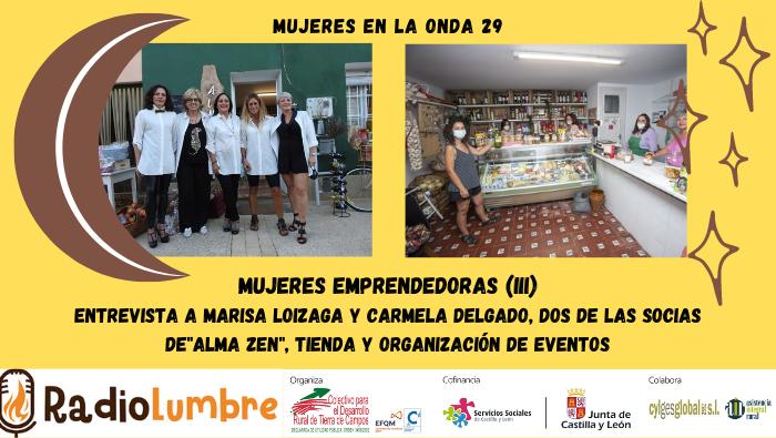 Mujeres emprendedoras. AlmaZen. Husillos (Palencia)