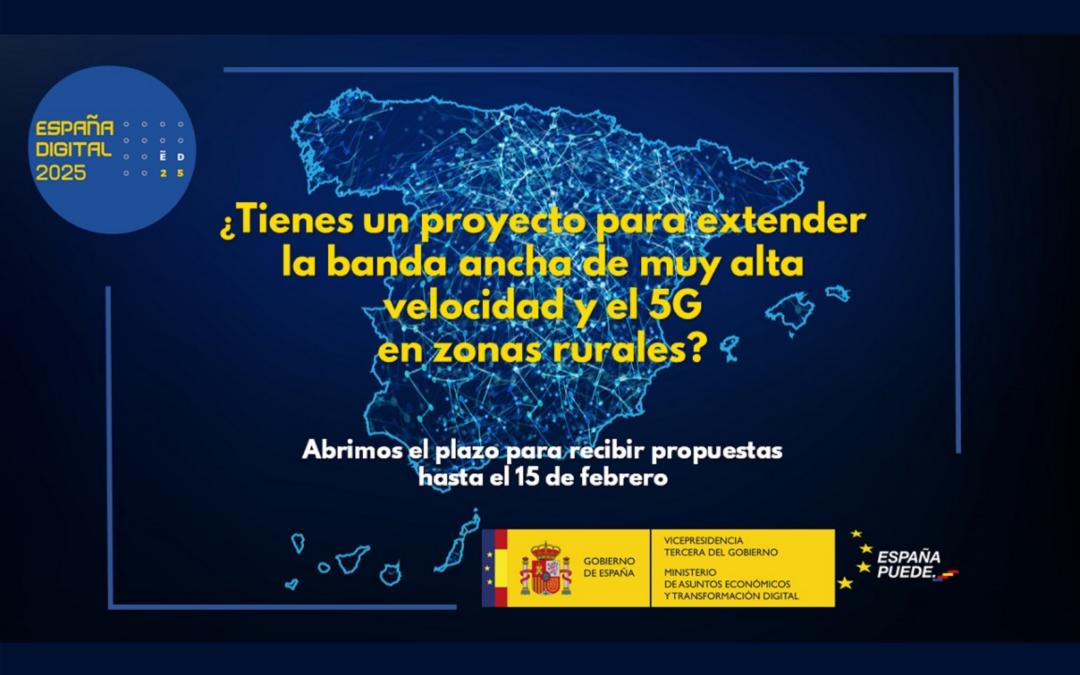 El Ministerio de Asuntos Económicos y Transformación Digital lanza una consulta para identificar proyectos que impulsen la transformación digital y la cohesión territorial en zonas poco pobladas