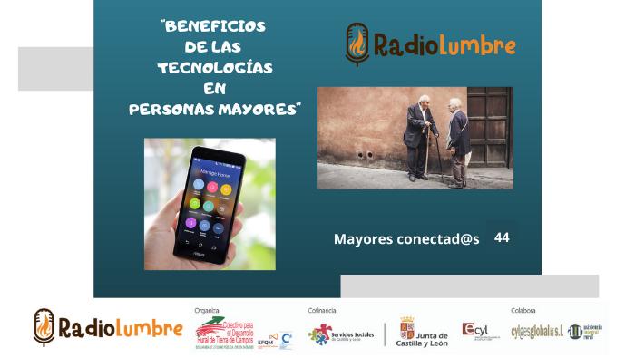 """""""Beneficios de las tecnologías en las personas mayores""""."""