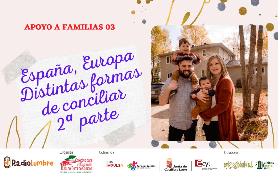 España, Europa: diferentes formas de conciliar