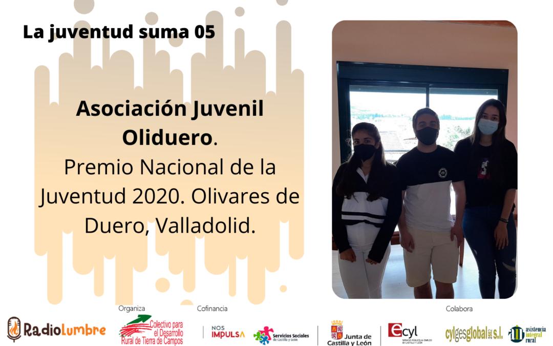 Asociación Juvenil Oliduero, Premio Nacional de la Juventud 2020. Olivares de Duero, Valladolid.