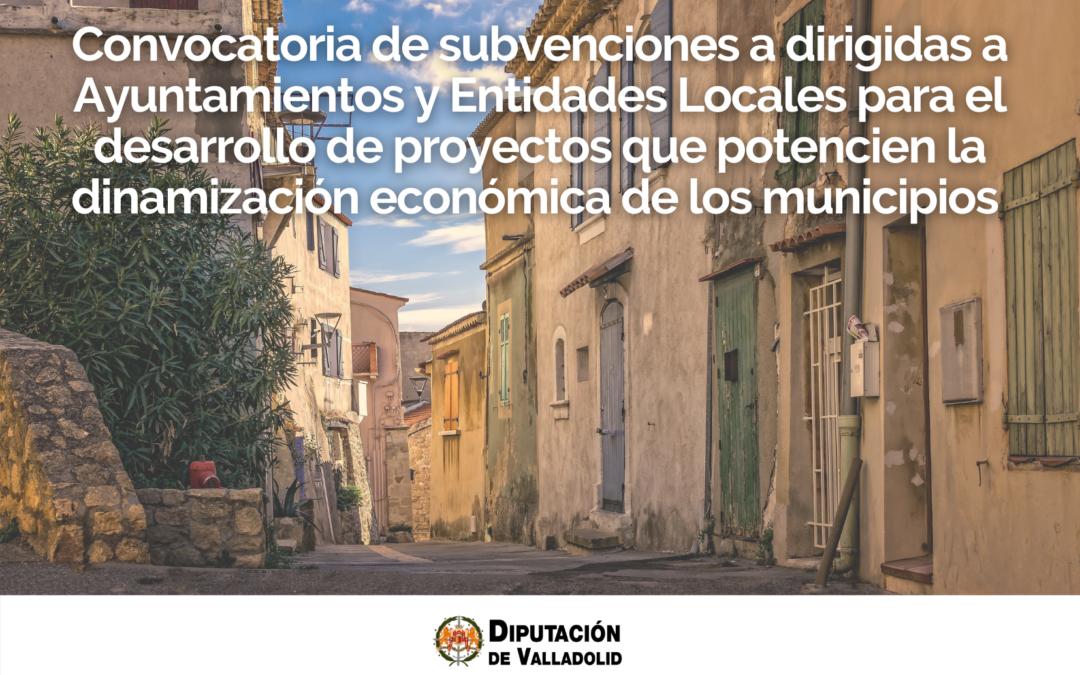 La Diputación de Valladolid apoya el desarrollo de proyectos de dinamización económica
