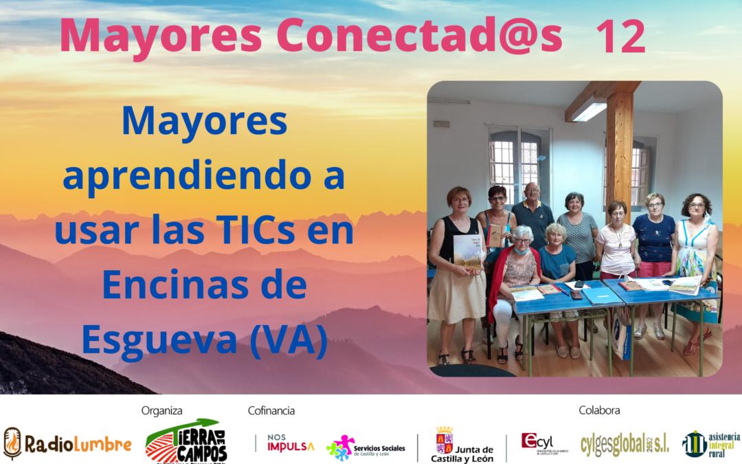 Mayores aprendiendo a usar las tics en Encinas de Esgueva (Va).