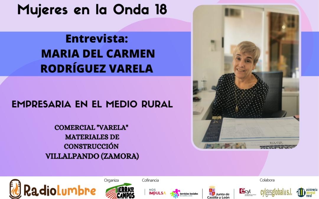 Mujer empresaria: Entrevista a María del Carmen Rodríguez Varela